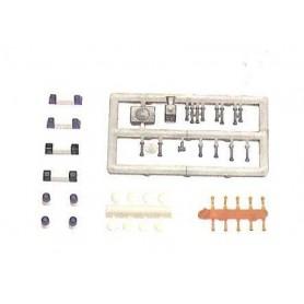Busch 49960 Blåljusbalka, sígnalhorn, sirener och andra tillbehör för moderna EU-uttryckningsfordon