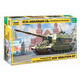 """Zvezda 3677 Russian 152 mm Self-Propelled Howitzer 2S35 """"KOALITSIYA-SV"""""""