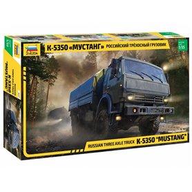 "Zvezda 3697 Russian three axle truck K-5350 ""MUSTANG"""