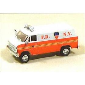 "Trident 90197 Chevrolet Van ""F.D. N.Y. High Rise Unit"""