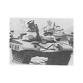 Trident 80043 Tanks T-72 M 1980 Main Battle Tank, 125mm kanon, byggsats i vitmetall, omålad