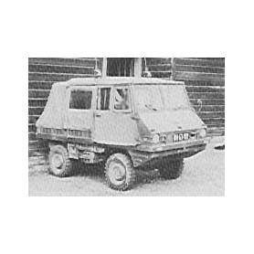 """Trident 80029 Steyr Puch 700AP """"Haflinger"""" Kommandowagen, byggsats i vitmetall, omålad"""