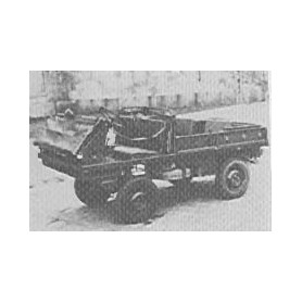 "Trident 80030 Steyr Puch 700AP ""Hafflinger"", byggsats i vitmetall, omålad."