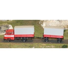 """SES 11250151 IFA Robur Bil och Släp """"Feuerwehr"""""""