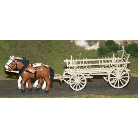 SES 16100006 Hövagn med hästar