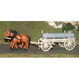SES 16100005 Vagn med tank och hästar