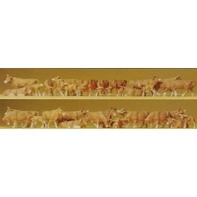Preiser 14409 Kossor, bruna, 30 st