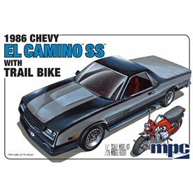 MPC 888 Chevrolet El Camino SS 1986 with trail bike