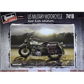 Thunder 35003 Motorcykel US Military Indian 741B two kits edition