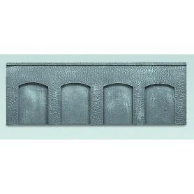 Faller 272645 Arkadplatta, betong, polystyrene, mått 37,0 x 6,0 x 0,9 cm