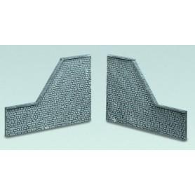 """Faller 272647 Arkadplatta för avslut, """"Naturstein Quader"""", polystyrene, mått 17,0 x 7,5 x 1,0 cm (x2)"""