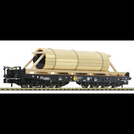 Fleischmann 845514 Tungtransportvagn typ DB med last av stålrulle