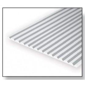 Evergreen 2060 Plasticard V-Panel 0.5 mm, avstånd 1.5 mm, 1 st, mått 15 x 30 cm