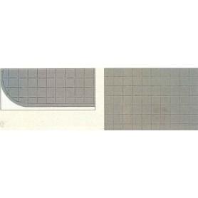 Kibri 4123 Vägplatta/Trottoarplatta, plast, mått 20 x 12 cm