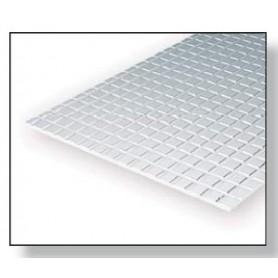 Evergreen 4516 Plasticard plattor, låga, 1.0 mm, plattor 6.3 x 6.3 mm, 1 st, mått 15 x 30 cm