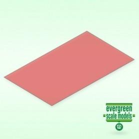 Evergreen 9901 Plasticard röd transparent 0.25 mm, 2st, mått 15 x 30 cm