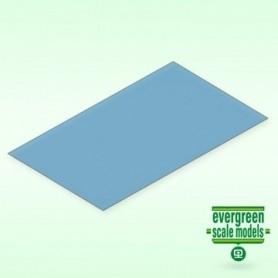 Evergreen 9902 Plasticard blå transparent 0.25 mm, 2st, mått 15 x 30 cm
