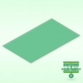 Evergreen 9903 Plasticard grön transparent 0.25 mm, 2st, mått 15 x 30 cm