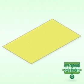 Evergreen 9904 Plasticard gul transparent 0.25 mm, 2st, mått 15 x 30 cm