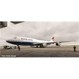 """Herpa Wings 533508 Flygplan British Airways Boeing 747-400 """"100th"""" Negus Design"""