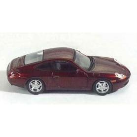 Schuco 04343 Porsche 996 Coupé, röd metallic