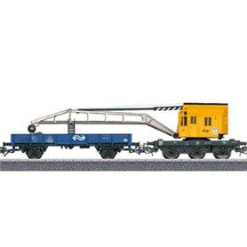 Märklin 00013 Kranvagnssats med kranvagn och flakvagn typ NS