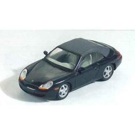 Schuco 04463 Porsche 996 Cabriolet Softtop, svart metallic