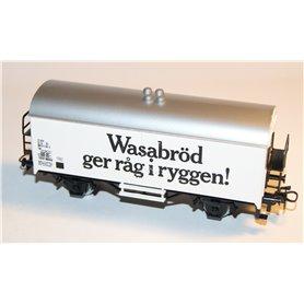 """Märklin 4566 Godsvagn 083 9 216-5 Lgs typ SJ """"Wasabröd ger råg i ryggen"""""""