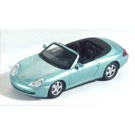 Schuco 04561 Porsche 996 Carrera 4 Cabriolet, turkos metallic