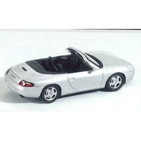 Schuco 04562 Porsche 996 Carrera 4 Cabriolet, silver metallic
