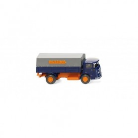 Wiking 47601 Flatbed lorry (Büssing 4500) blue|orange