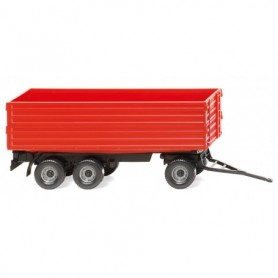 Wiking 38818 Agricultural 3- axle trailer red
