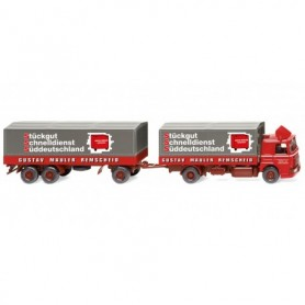 Wiking 47301 Flatbed road train 'Spedition Gustav Mäuler'