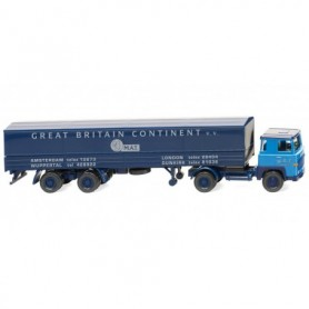 Wiking 51702 Flatbed tractor trailer (Scania 111 ) 'M.A.T.'