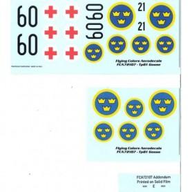 "FCA 72-107 Dekalark för flygplan, Tp 81 Grumman Goose ""Nordic Goose"""