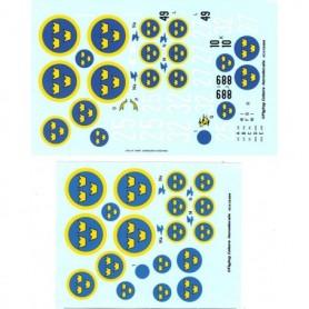 FCA 72-104 Dekalark för flygplan, Swedish Warriors
