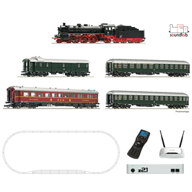 Roco 51313 z21 Digitalset: Steam locomotive class 18.6 with fast train, DB