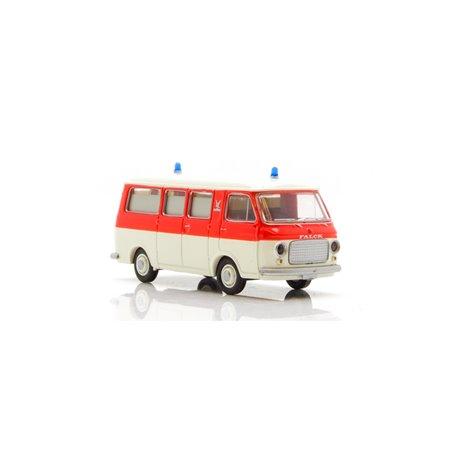 Brekina 34413 Ambulans Fiat 238 'Falck' röd vit