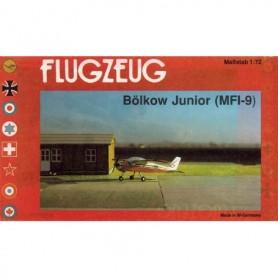 Flugzeug 1002 Flygplan Bölkow Junior MFI-9