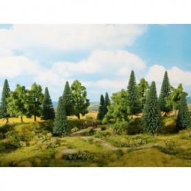 Noch 24621 Mixad skog 16 st, 10-14 cm höga