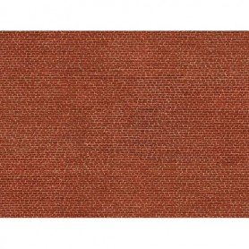 Noch 56610 Murplatta 3D 'Klinker' röd