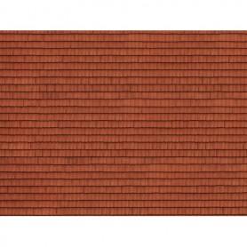 Noch 56670 Murplatta 3D 'Roof Tile', röd