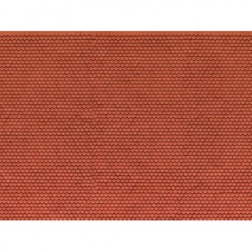 Noch 56690 Murplatta 3D 'Plain Tile', röd