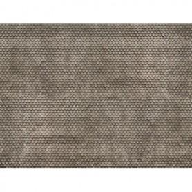 Noch 56691 Murplatta 3D 'Plain Tile', grå