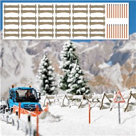 Busch 1120 Snow Fences and Snow Poles