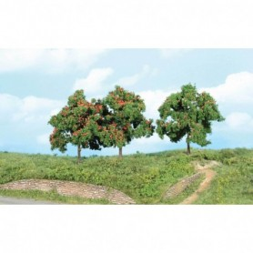 Heki 1929 Äppelträd, 13 cm höga, 3 st
