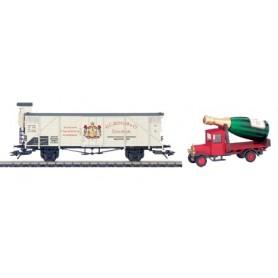 """Märklin 48002 Godsvagn """"Museumsvagn 2002"""" med bil """"G.C. Kessler & Co"""""""