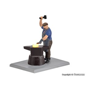 Viessmann 1514 Blacksmith with glowing iron, moving