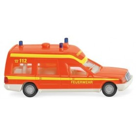 Wiking 60701 Fire brigade - ambulance (MB Binz) - red fluorescent