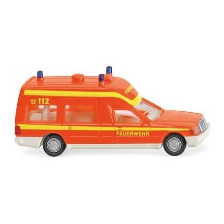 Wiking 60701 Fire brigade - ambulance (MB Binz) - red fluorescent